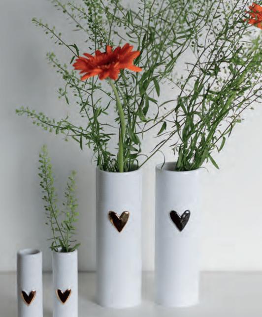 Vase Coeur Love col Or
