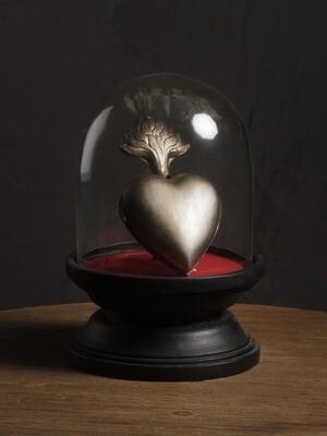 Cloche / Dome /Globe Coeur Sacré Ex Voto