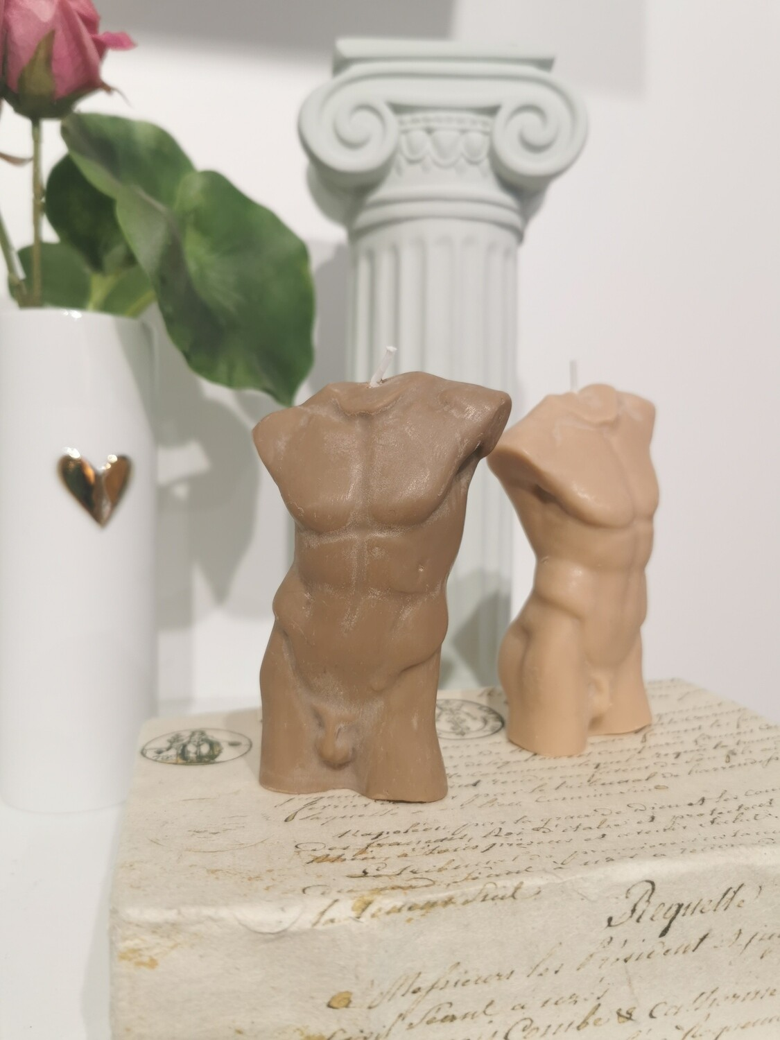 Bougie Statue Homme 10 cm col Chocolat