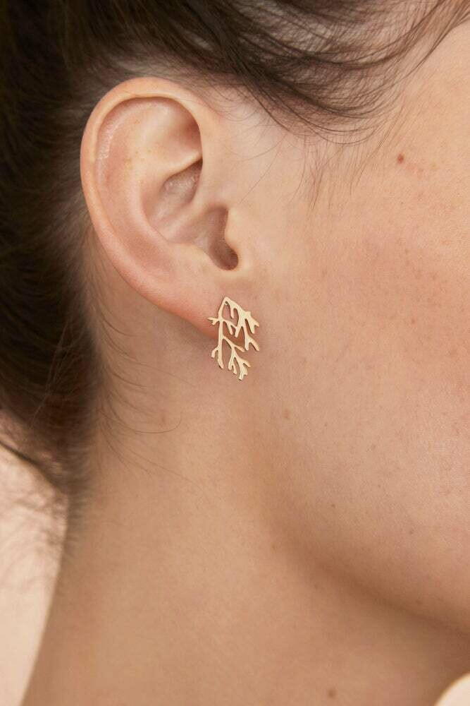 Pin's d'Oreille Corail (3 tailles) col Or COMING SOON