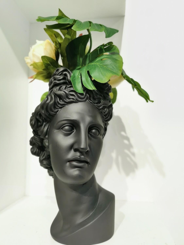Apollo Head Vase col Noir