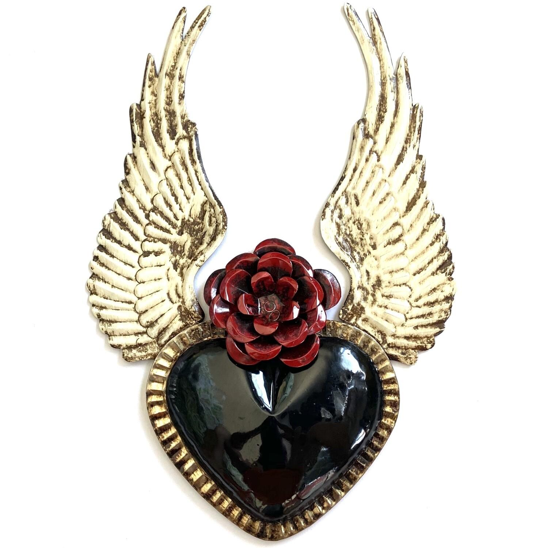Ex Voto Coeur Sacre XL ANGEL col Noir