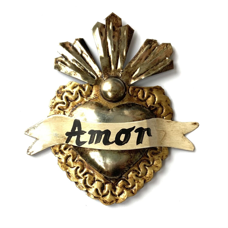 Ex Voto Coeur Sacre small RIOS DOS AMOR col Platinum