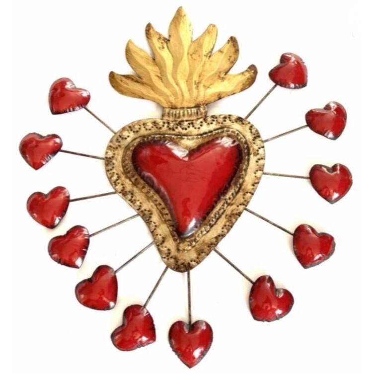 Ex Voto Coeur Sacre XXL GALLEGOS Col Rouge
