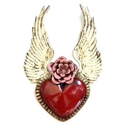 Ex Voto Coeur Sacre ANGEL rouge