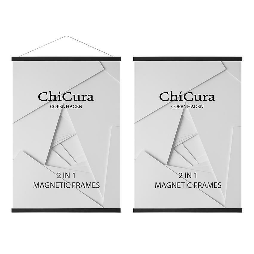 Cadre Magnetique 2 en 1 Black A3