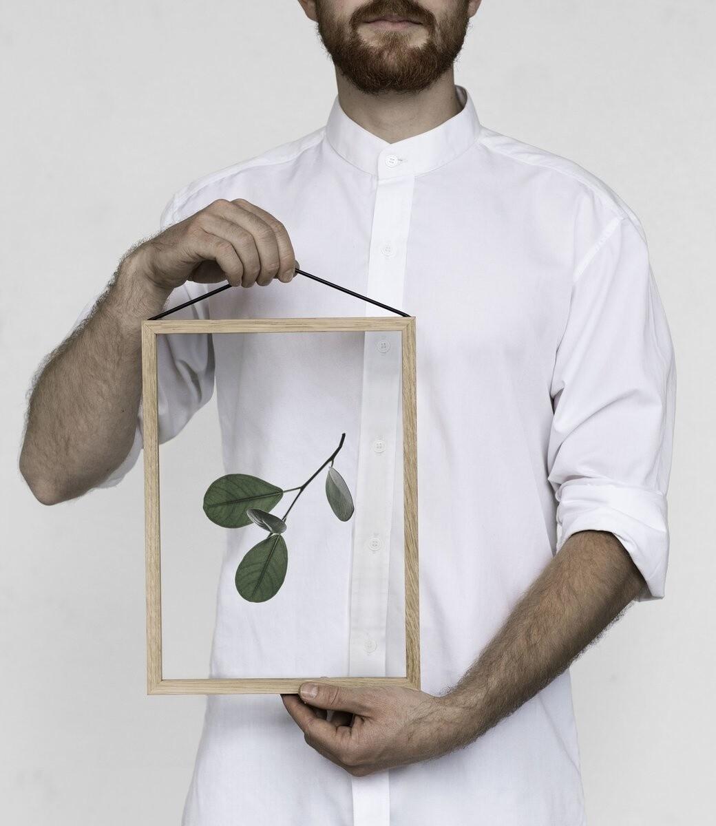 Affiche Floating Leaves 05 Transparent A4