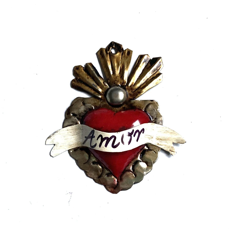 Ex Voto Coeur Sacre RIOS DOS AMOR XSmall rouge