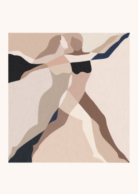 Affiche Two Dancers  by Kit Agar