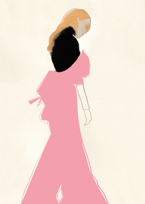 Affiche The Pink Dress By Amelie Hegardt