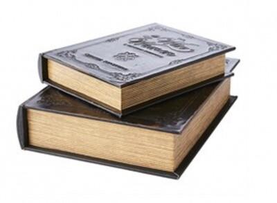 Livre Boite secrète effet cuir/ bois 3 wise women Small