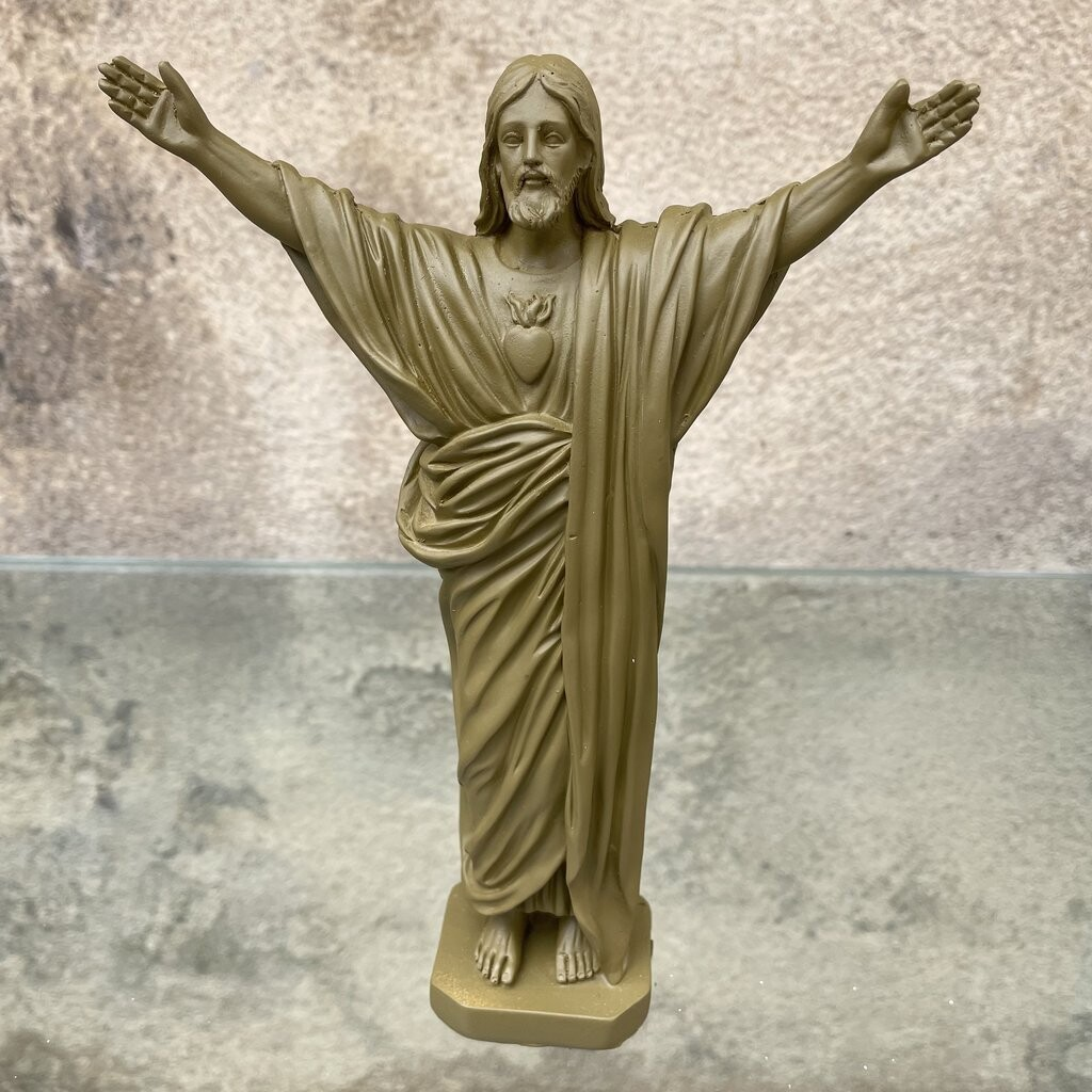 Statue JESUS LOVES YOU  kaki  J ai vu la Vierge  NEW!