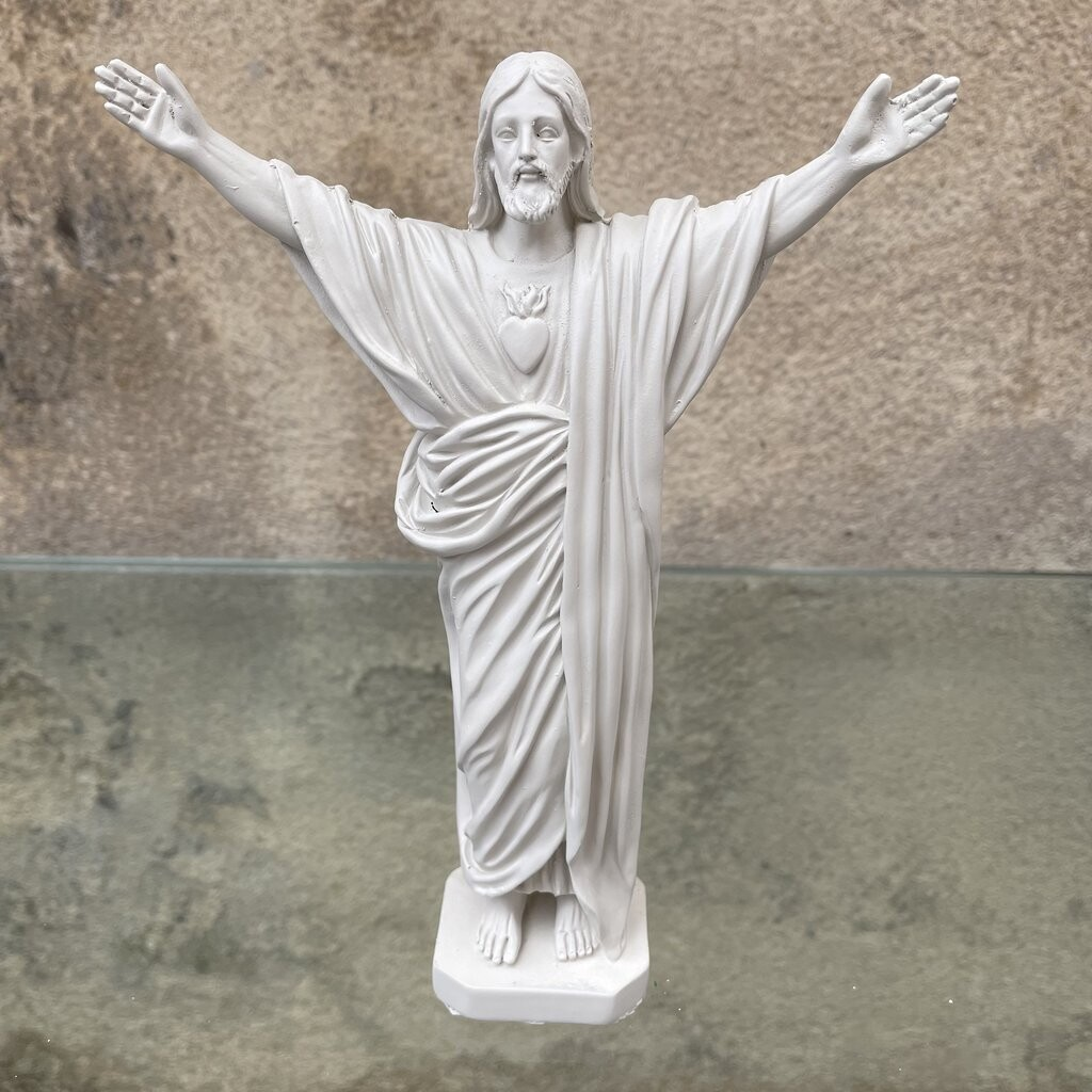 Statue JESUS LOVES YOU col Lin  J ai Vu La Vierge NEW!