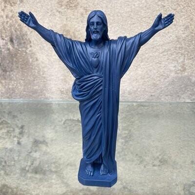Statue JESUS LOVES YOU col Marine  J ai Vu La Vierge NEW!