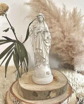 Statue Marie Aux Fleurs Col Lin  J ai Vu La Vierge  NEW !