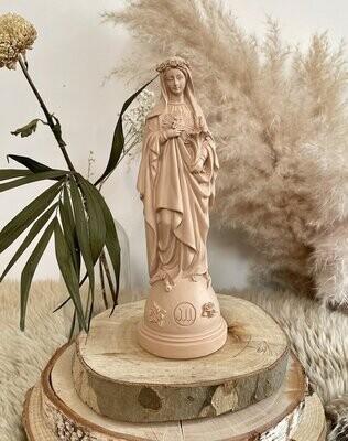 Statue Marie Aux Fleurs Col Nude  J ai Vu La Vierge  NEW!