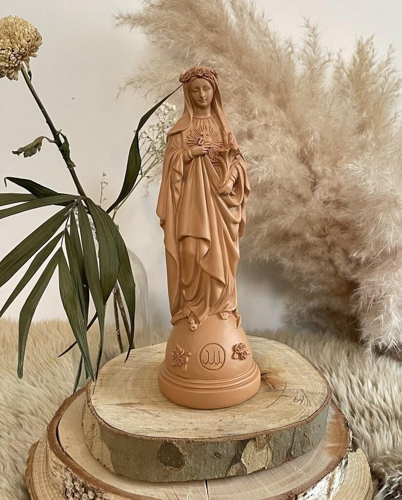 Statue Marie Aux Fleurs  Col Peche  J ai Vu La Vierge   NEW!