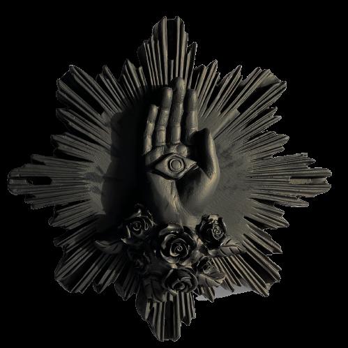 Ex Voto Coeur Sacré MAIN DE MARIE Col noir J ai vu la Vierge NEW ! COMING SOON