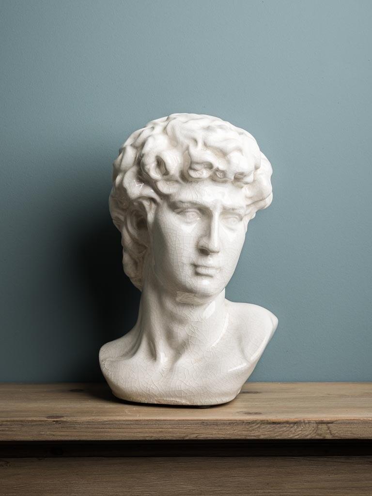 Statue Tete de David en Grès Craquelé NEW COMING SOON