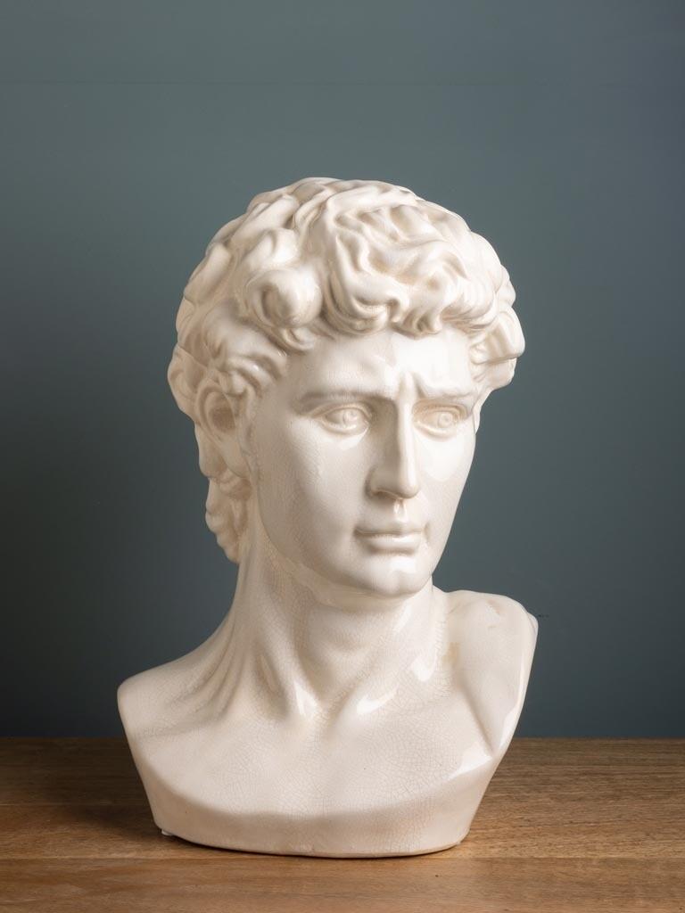 Buste de David en Grès Craquelé  NEW COMING SOON