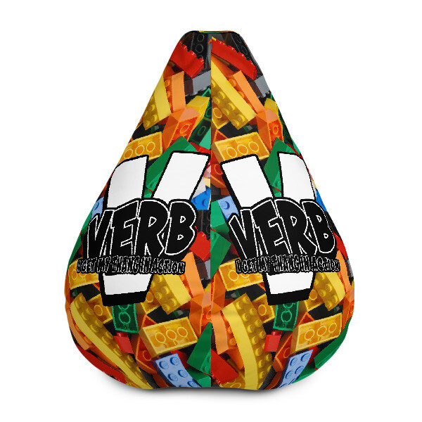 """Verb"" Blockhead Bean Bag Chair w/ filling"