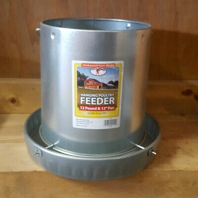 12 lb. Galvanized Poultry Feeder