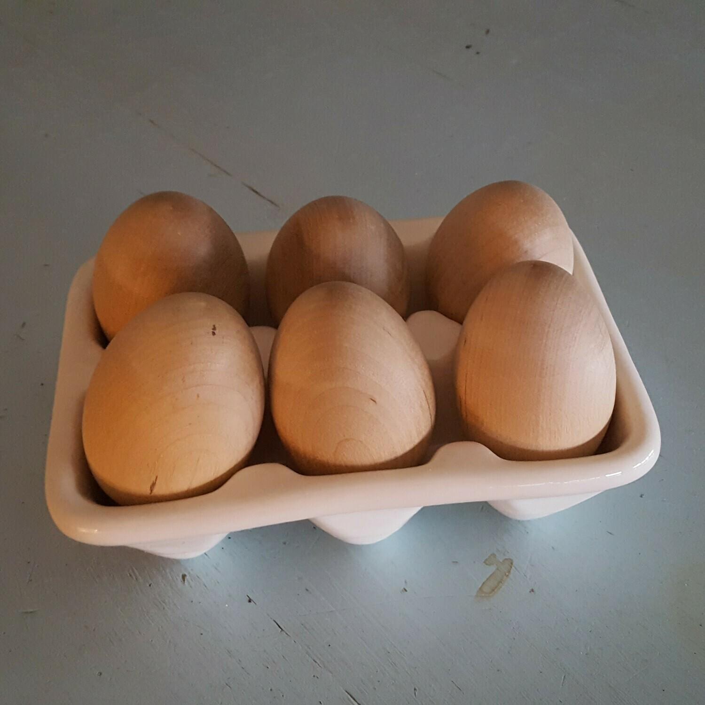 Ceramic Egg Tray, 6 Count