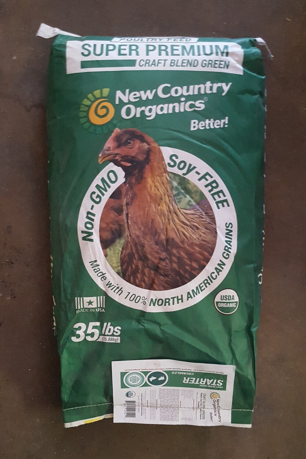 New Country Organics All Poultry Starter Crumbles, 35 lb.