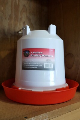 1 Gallon Hanging Plastic Poultry Waterer