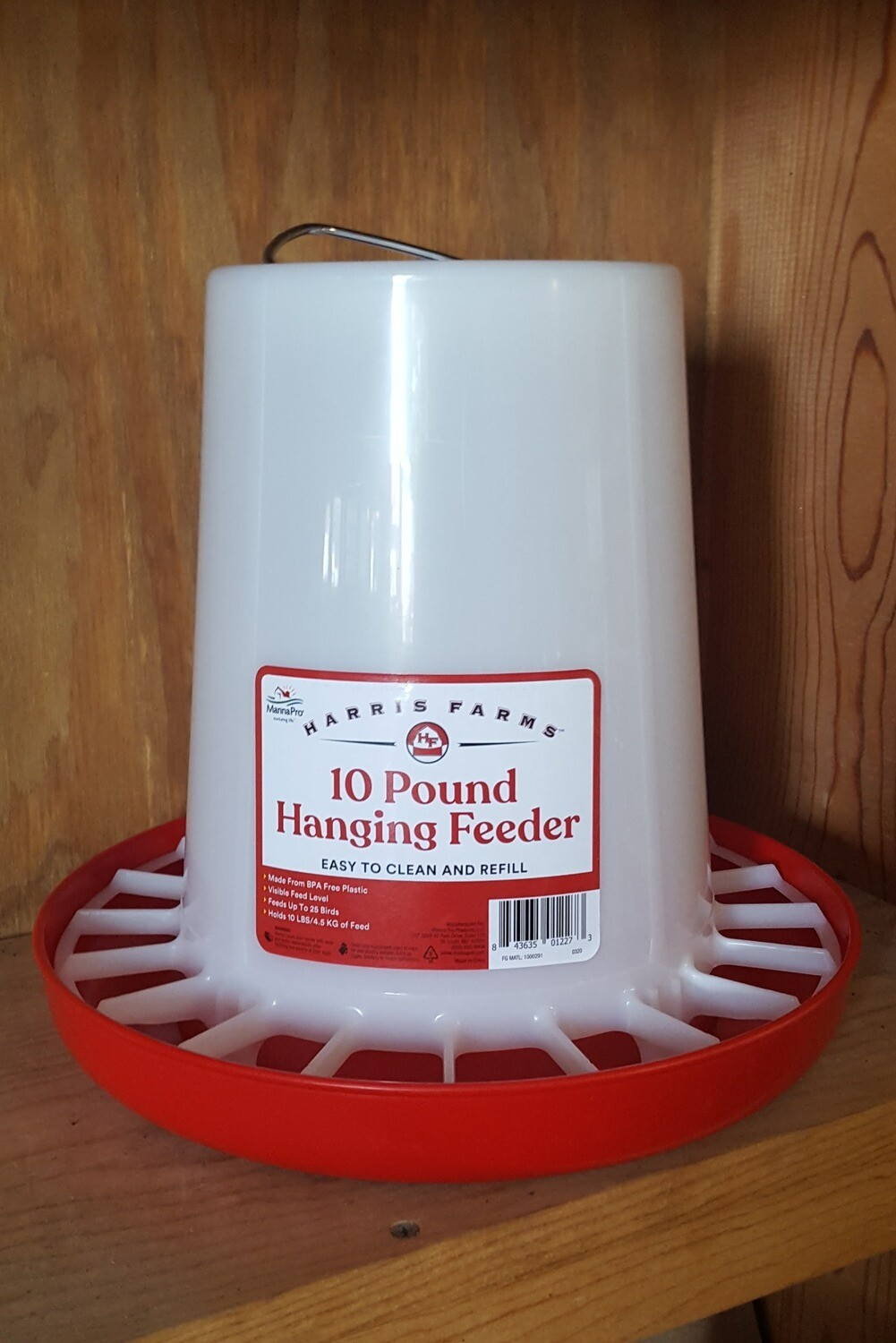 10 lb. Hanging Plastic Poultry Feeder
