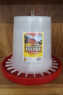 11 lb. Adjustable Hanging Plastic Poultry Feeder