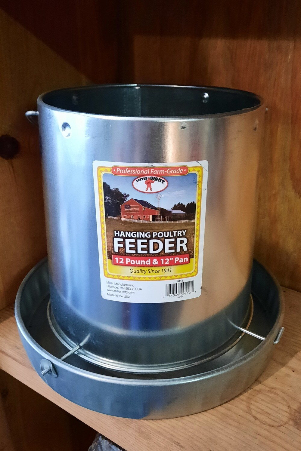 12 lb. Hanging Galvanized Poultry Feeder
