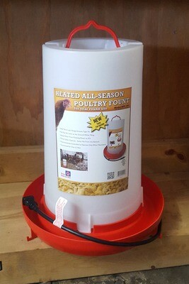 3 Gallon Heated Hanging Plastic Poultry Waterer