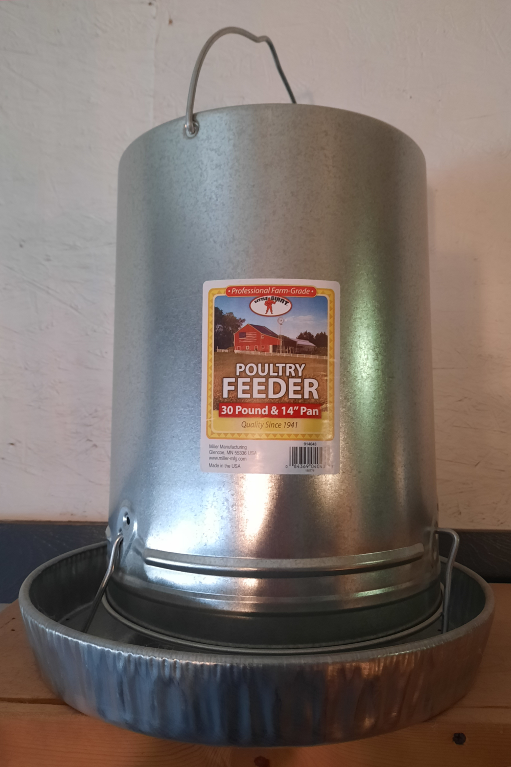 30 lb. Hanging Galvanized Poultry Feeder