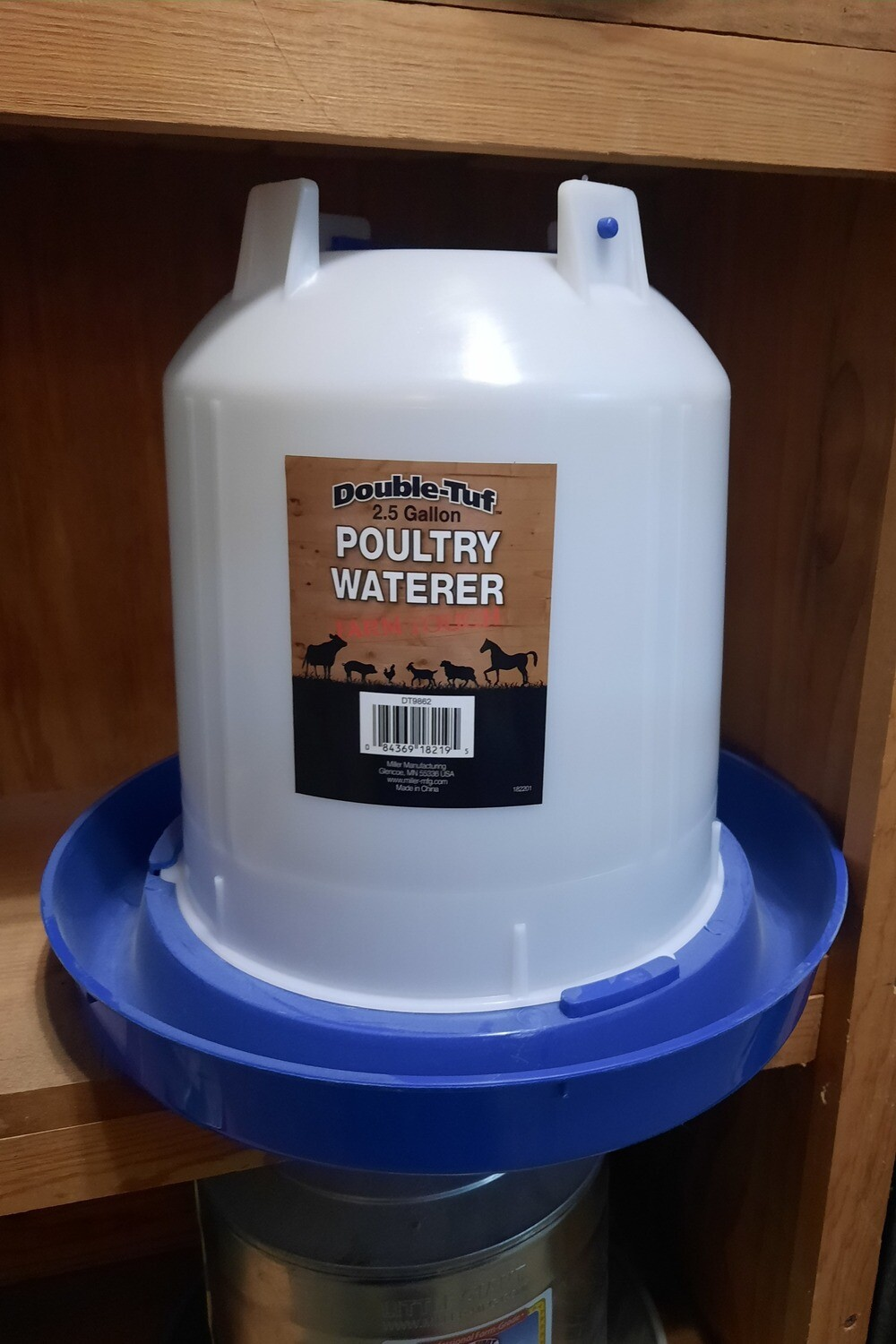 2.5 Gallon Hanging Plastic Poultry Waterer
