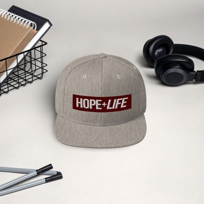 Hope Life Embroidered Snapback Hat