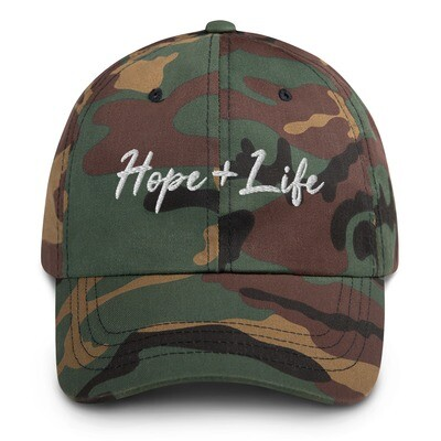 Hope + Life Embroidery Hat