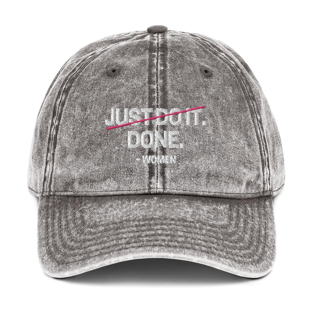 Done Vintage Cotton Twill Cap