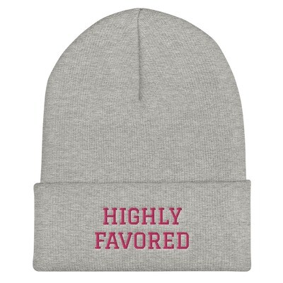Highly Favored Cuffed Beanie
