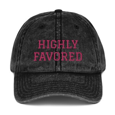Highly Favored Vintage Cotton Twill Cap