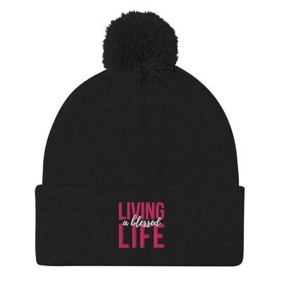 Living a Blessed Life Pom-Pom Beanie