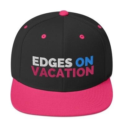 Edges on Vacation Snapback Hat