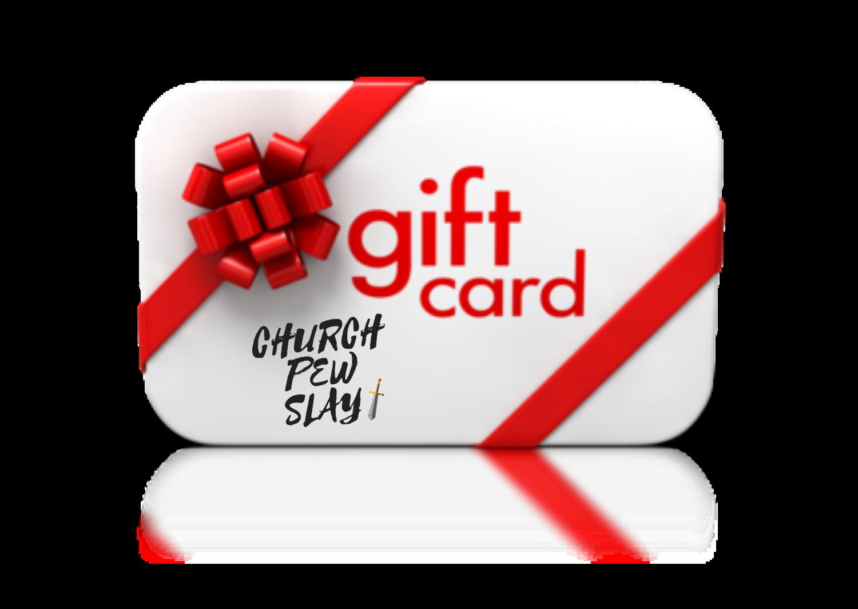 Church Pew Slay eGift card