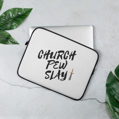 Church Pew Slay Laptop Sleeve