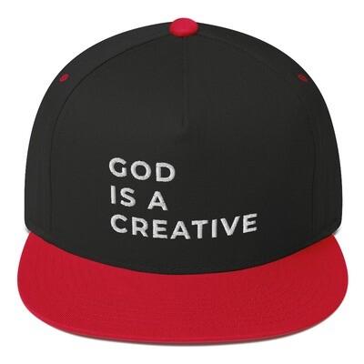 God is a Creative Flat Bill Cap