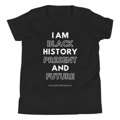 I Am Black History Youth Short Sleeve T-Shirt