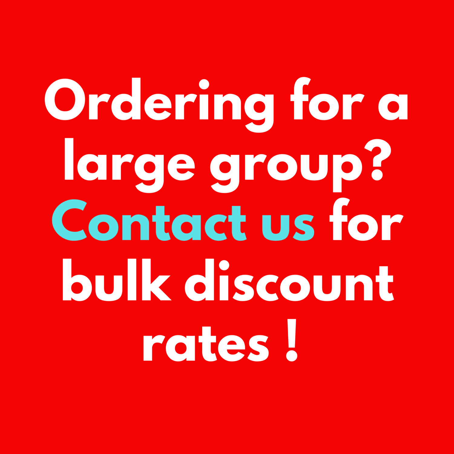 Bulk Discount Rates Available