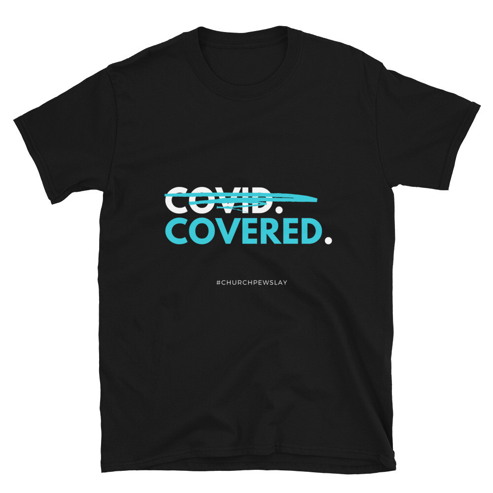 Covered Blue Short-Sleeve Unisex T-Shirt