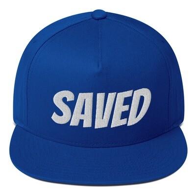 Saved Solid Flat Bill Cap