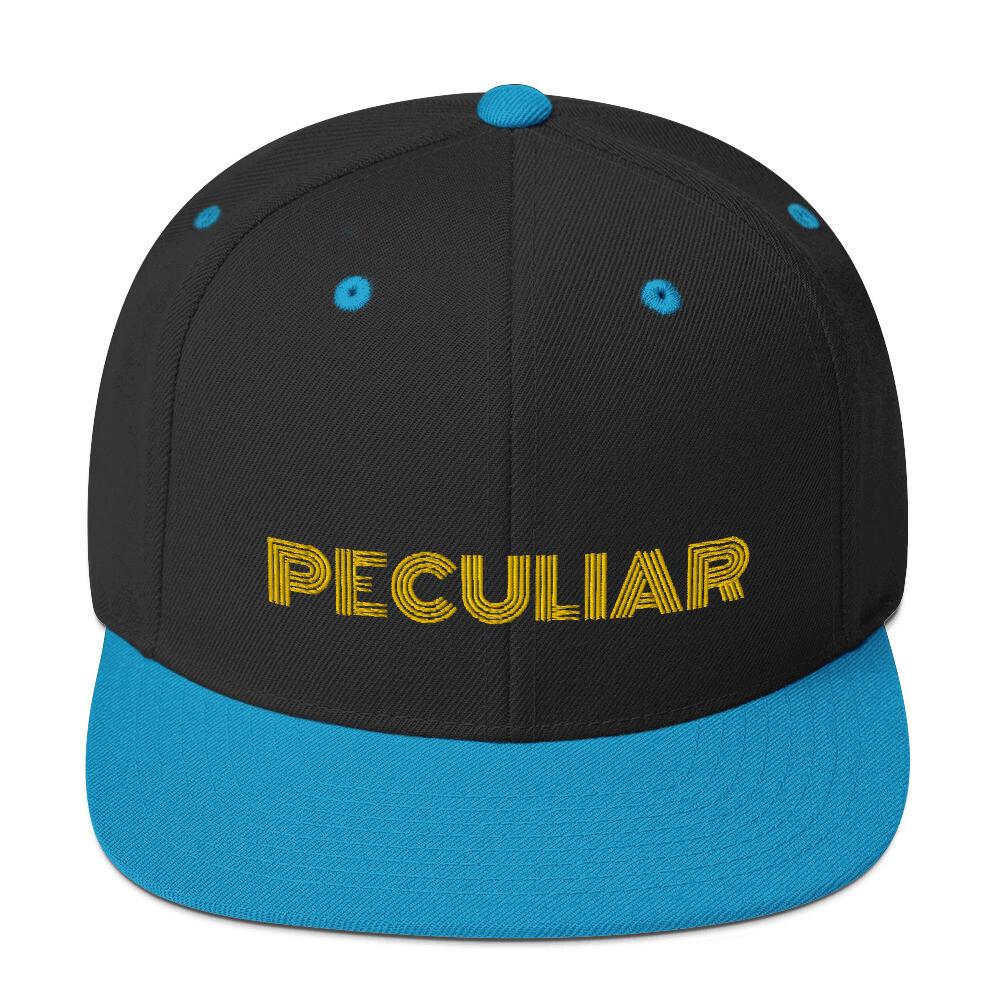 Peculiar Gold Snapback Hat